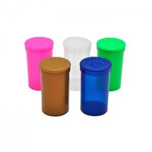 225 x 19 Dram Pop Top Storage Bottles - Mixed Colours Qty: x 1