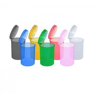 160 x 30 Dram Pop Top Storage Bottles - Mixed Colours Qty: x 1