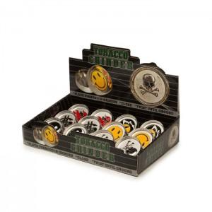 2 Parts Mini Emoji Metal Silver Grinder - HX002-1