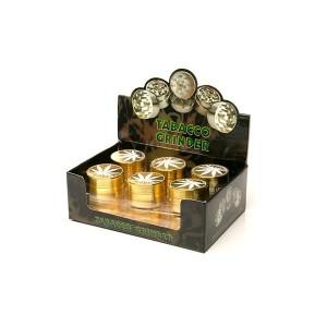 12 x 3 Parts Metal Gold Leaf Grinder - HX003G