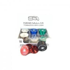 12 x 50mm 3 Parts Amsterdam Handmuller Metal Grinder - DK 4881-3