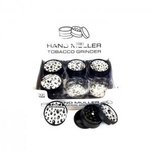 12 x D&K 3 Parts Handmuller Metal Grinder DK 5051-3