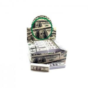 50 x 4Smoke 100 Dollar Bill Design Roach Filter Tips
