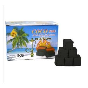 COCO Fire Shisha Hookah Coconut Charcoal - 1KG (72 Pieces)
