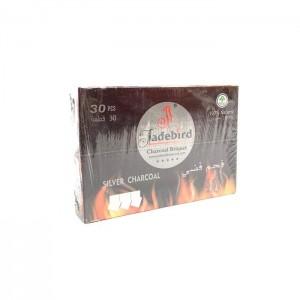 JadeBird Shisha Hookah Silver Charcoal (30 pieces)