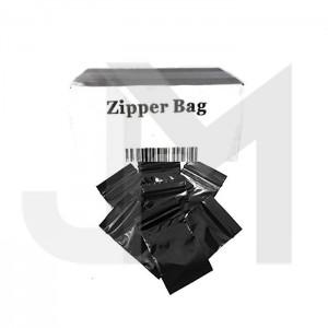 5 x Zipper Branded  30mm x 30mm Black Bags
