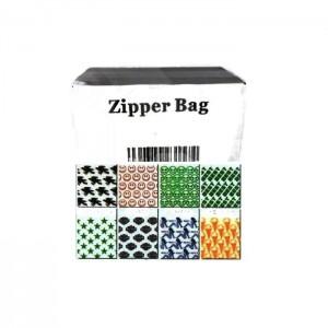 5 x Zipper Branded 35mm x 25mm Printed Leaf  Baggies